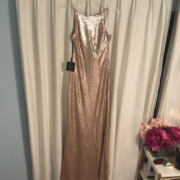 92f04fba Lulu's Dresses | Chic Celebration Champagne Sequin Maxi Dress | Poshmark